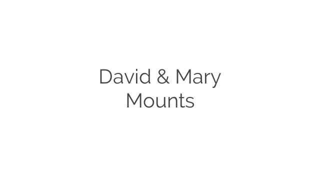 David & Mary Mounts